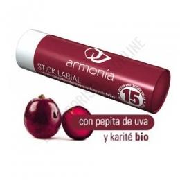 Protector labial pepita de uva y Karité BIO Armonía SPF15 - Stick labial Armonía es una barra protectora de labios con sabor a cereza, a base de Pepita de Uva y Karité Bio. Para los efectos del sol, viento y frío.