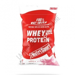 Whey Gold Protein 100% Suero Nutrisport sabor fresa 2000 gr.