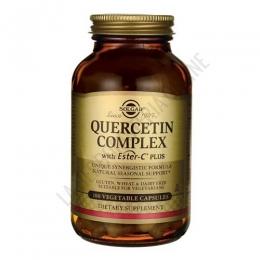 Quercitin Complex con Ester C Plus Solgar 100 cápsulas - Quercitin Complex de Solgar contiene un complejo de bioflavonoides patentado, a base de Quercitina, Vitamina C Ester-C ® (no ácida) y Bromelina.