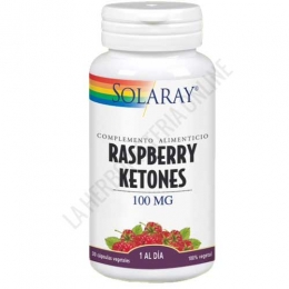 Raspberry Ketones- Cetona de Frambuesa Solaray 30 cápsulas - Raspberry Ketones 100 mg. de Solaray es una formulación natural a base de cetonas de frambuesa que actúa como un potente quemador de grasas.