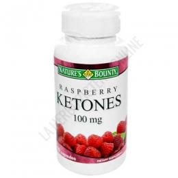 Raspberry Ketones - Cetona de frambuesa Natures Bounty 60 cápsulas - La Cetona de Frambuesa de Natures Bounty contiene 100 mg. por cápsula de un activo natural a 100% a base de cetonas de frambuesa, que actúa como un potente quemador de grasas. PRODUCTO DESCATALOGADO POR EL LABORATORIO FABRICANTE.
