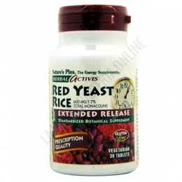 Red Yeast Rice 600 mg. Natures Plus (arroz de levadura roja) 30 perlas