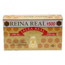 Reina Real 1500 mg. Jalea Real Robis 20 ampollas - Reina Real 1500 contiene 1500 mg. de Jalea Real fresca por ampolla, producto garantizado con ingredientes de máxima calidad y efectividad.