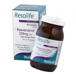 Resolife Resveratrol Health Aid 60 cápsulas