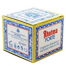 Rhatma Forte ungüento balsámico 50 ml. - Rhatma Forte es un bálsamo específico para masaje que ayuda a calmar la rigidez y tensión muscular, en especial cuando hay contracturas e inflamaciones.