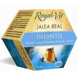 Royal Vit Jalea Real Infantil Dietisa 20 viales - Royal Vit Infantil es una jalea real reforzada con própolis, polen y vitaminas que contribuye a reforzar y al cuidado de los más pequeños.