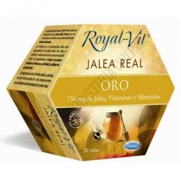 Royal Vit Jalea Real Oro Dietisa 20 viales - Royal Vit Infantil es una jalea real reforzada con acerola, minerales y vitaminas que contribuye al cuidado de las personas que se encuentran en la etapa de madurez.
