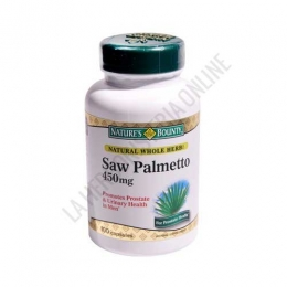 Extracto de Saw Palmeto Natures Bounty - Perlas con Extracto de Saw Palmeto, Aceite de semillas de Calabaza, Ciruelo Africano y Gayuba en una fórmula específica para el cuidado del sistema urinario y la próstata. PRODUCTO DESCATALOGADO  POR EL LABORATORIO FABRICANTE. Como alternativa sí disponible le recomendamos:  Sabal 450 mg. Natures Bounty 100 cápsulas -Pulse aquí para ver el producto.