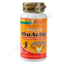 Super IbuActin Máxima Potencia Solaray 60 cápsulas líquidas -