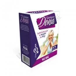 Siempre Dona Tongil 40 cápsulas - Siempre Dona de Tongil contiene ingredientes naturales que complementan las necesidades nutricionales de la mujer adulta ante la menopausia.