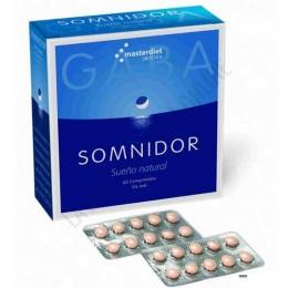 Somnidor Pharmadiet 60 comprimidos - Somnidor de Masterdiet es un compuesto a base de GABA, Valeriana, Pasiflora y 5-HTP que contribuye a tranquilizar el organismo y a conciliar el sueño.