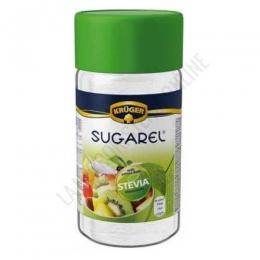 Stevia edulcorante Sugarel en polvo Krügel 75 gr. - Sugarel de Krügel es un edulcorante de mesa natural en polvo a base de stevia que aporta sólo 2 kcalorías por cucharadita, siendo una alternativa perfecta al azúcar y a los edulcorantes artificiales.