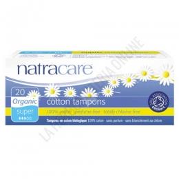 Tampones sin aplicador 100% algodón orgánico Natracare super 20 uds. -