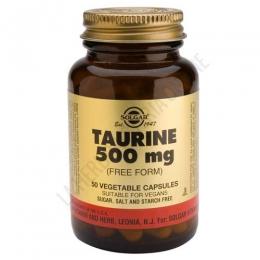 Taurina en forma libre 500 mg. Solgar 50 cápsulas