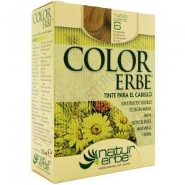 Tinte vegetal Color Erbe sin amoniaco - 6 RUBIO CLARO - Color Erbe de Natur Erbe es un tinte vegetal que cubre totalmente las canas, formulado sin amoniaco, resorcina, noxynol ni S.L.S. y enriquecido con extractos vegetales, por lo que además de teñir respeta, nutre y da brillo al cabello.
