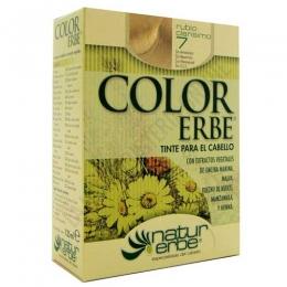 Tinte vegetal Color Erbe sin amoniaco - 7 RUBIO CLARISIMO - Color Erbe de Natur Erbe es un tinte vegetal que cubre totalmente las canas, formulado sin amoniaco, resorcina, noxynol ni S.L.S. y enriquecido con extractos vegetales, por lo que además de teñir respeta, nutre y da brillo al cabello.
