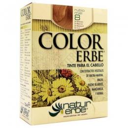Tinte vegetal Color Erbe sin amoniaco - 8 RUBIO MIEL - Color Erbe de Natur Erbe es un tinte vegetal que cubre totalmente las canas, formulado sin amoniaco, resorcina, noxynol ni S.L.S. y enriquecido con extractos vegetales, por lo que además de teñir respeta, nutre y da brillo al cabello.