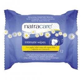 Toallitas higiene íntima femenina Natracare algodón orgánico 12 uds. -