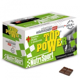 Top Power voluminizador Nutrisport chocolate 24 sobres
