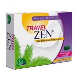 Travel Zen MGD 16 comprimidos masticables - Travel Zen de MGD son comprimidos masticables a base de jengibre, menta y manzanilla, especialmente útiles en caso de náuseas provocadas por el embarazo o el mareo al viajar. PRODUCTO DESCATALOGADO POR EL LABORATORIO FABRICANTE.