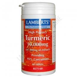 Turmeric curcuma alta potencia Lamberts 10.000 mg. 60 cápsulas -