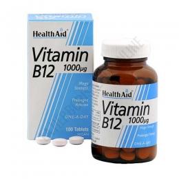 Vitamina B12 Health Aid 100 comprimidos - Vitamin B12 1000µg de Health Aid son comprimidos de liberación prolongada de vitamina B12 de cómoda administración