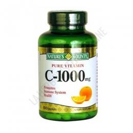 Vitamina C 1000 mg. Natures Bounty 100 comprimidos - 1 comprimido aporta 1000 mg. de Vitamina C, una de las vitaminas principales para el apoyo inmunológico. PRODUCTO DESCATALOGADO  POR EL LABORATORIO FABRICANTE. Como alternativa sí disponible le recomendamos:  Vitamina C 1000 mg. con Escaramujo Natures Bounty 100 comprimidos -Pulse aquí para ver el producto.
