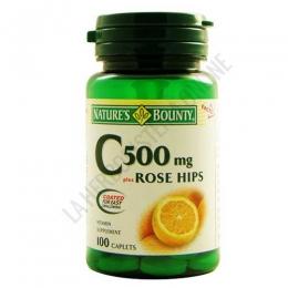 Vitamina C 500 mg. Rose Hips Natures Bounty - 100 comprimidos de Vitamina C-500 con Escaramujo, de acción antioxidante. PRODUCTO DESCATALOGADO POR EL LABORATORIO FABRICANTE.