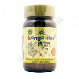 Kangavites Vitamina C naranja infantil Solgar 90 comprimidos masticables