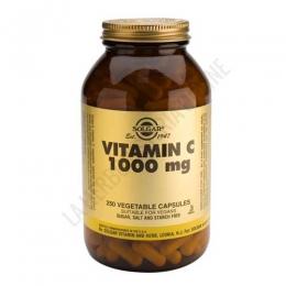 Vitamina C 1000 mg. Solgar 250 cápsulas vegetales -