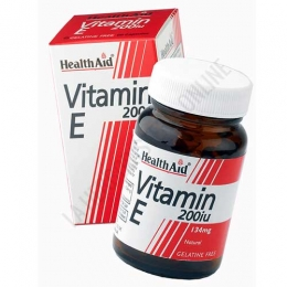 Vitamina E natural 200 UI Health Aid 60 cápsulas