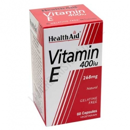 Vitamina E natural 400 UI Health Aid 60 cápsulas