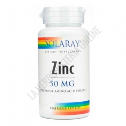 Zinc 50 mg. Solaray 60 cápsulas -
