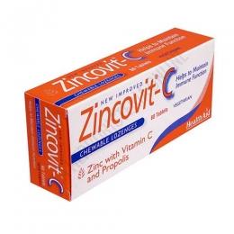 Zincovit-C Health Aid 60 comprimidos masticables - Zincovit C de Health Aid es un compuesto a base de Vitamina C, Zinc y Própolis que ayuda a aumentar las defensas y facilita la función inmune del organismo.