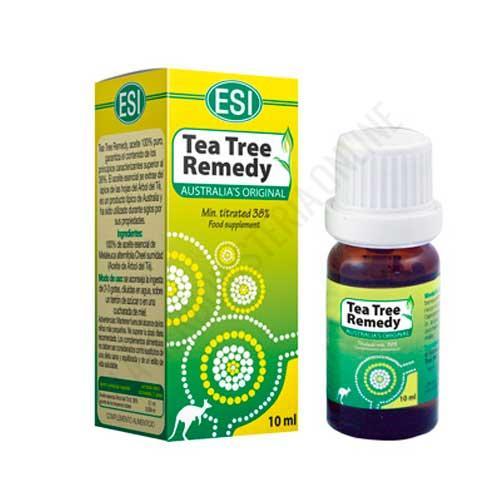 Aceite esencial Árbol del Té australiano original 100% puro ESI 10 ml. - El Aceite Tea Tree Australian Original ESI contiene Árbol del Té 100% puro y quimiotipado, es decir, 100% natural y procedente de una destilación íntegra de plantas botánicamente identificadas y recolectadas en el momento adecuado.