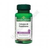 Cetona de Frambuesa 100 mg. Natures Bounty 60 cápsulas -