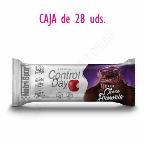 OFERTA Barritas ControlDay NutriSport sin gluten sabor Choco Brownie caja de 28 uds.