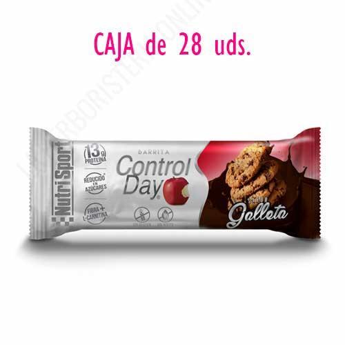 OFERTA Barritas ControlDay NutriSport sin gluten sabor Galleta caja de 28 uds.