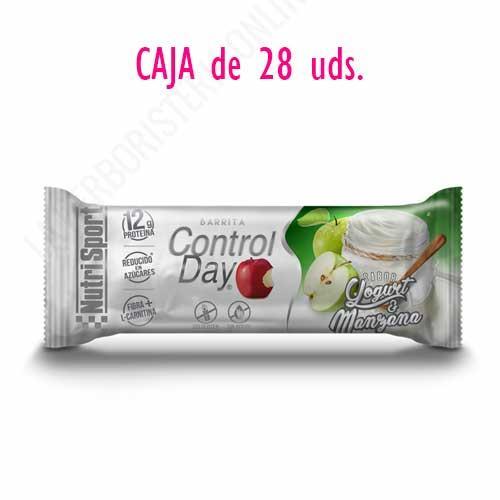 OFERTA Barritas ControlDay NutriSport sin gluten sabor Yogurt Manzana caja de 28 uds.