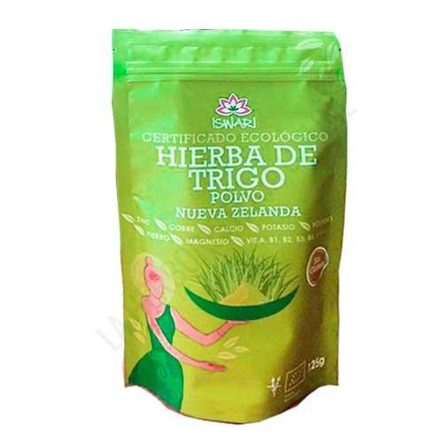 Hierba de Trigo polvo 100% biológica de Nueva Zelanda Iswari 125 gr. - La Hierba de Trigo Iswari es un Superalimento especialmente útil como
