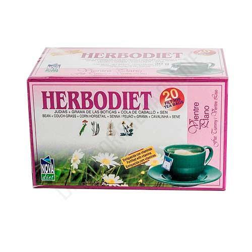 Herbodiet Vientre Plano infusión depurativa y laxante Novadiet 20 infusiones