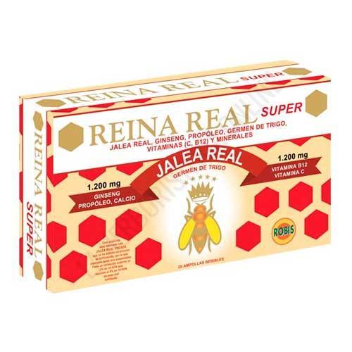 Reina Real Super Jalea Real energía y vitalidad Robis 20 ampollas