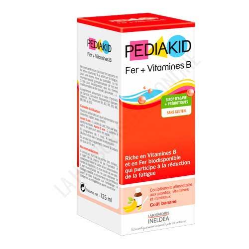 Pediakid jarabe infantil Hierro y vitaminas B 125 m. - Pediakid Hierro y Vitaminas B es un jarabe infantil a base de concentrados vegetales que ayuda a reducir la fatiga gracias a su aporte de hierro biodisponible.