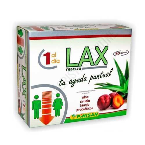 Lax Rescue tu ayuda puntual Pinisan 60 cápsulas - Lax Rescue de Pinisan contiene ingredientes eficaces y no agresivos con la flora intestinal: Aloe, ciruela, hinojo y probióticos. Formulado para favorecer el tránsito intestinal.