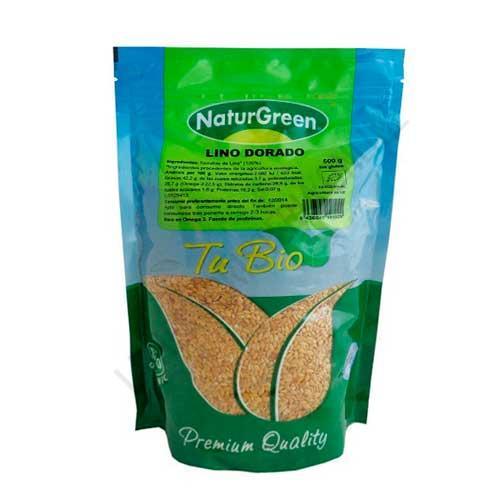 Semillas de Lino Dorado Ecológicas Naturgreen 500 gr. -