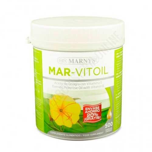 Aceite de onagra Mar Vitoil 500 mg. Marnys 400 + 100 perlas  -