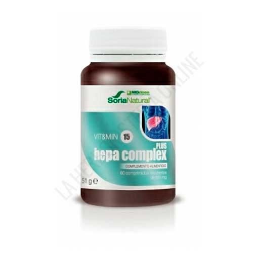 NUEVO Hepa Complex Plus Vitamin 15 MG Dose 60 comprimidos -