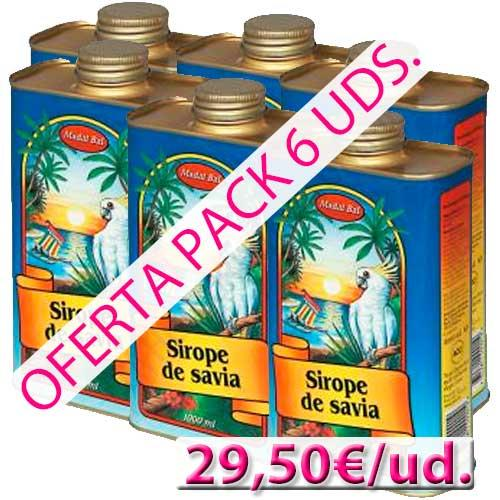 Sirope de Savia Madal Bal 1 litro pack 6 uds.