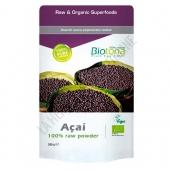 Açai Raw 100% Polvo crudo BIO Biotona 200 gr. -