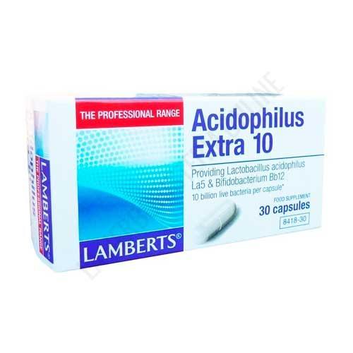 Acidophilus Extra 10 Lamberts 30 cápsulas -